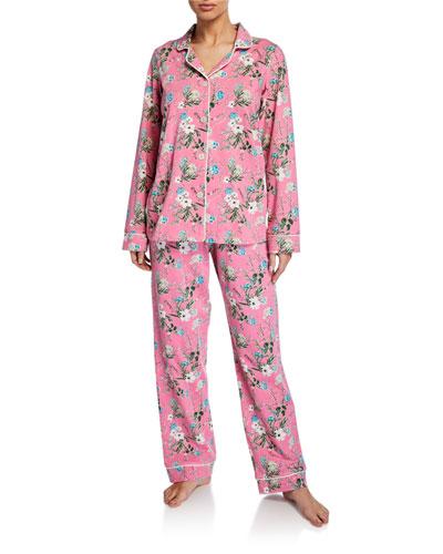 Plus Size Ladybug Floral Classic Pajama Set
