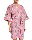 Bedhead Ladybug Floral Short Kimono Robe