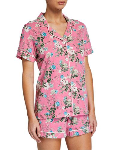 Ladybug Floral Shorty Pajama Set