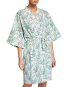 Bedhead Spring Bloom Floral Short Kimono Robe