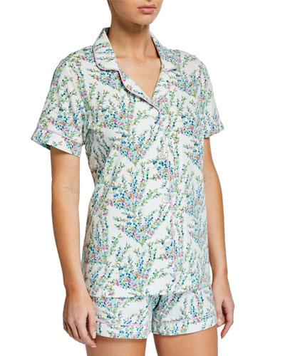 Plus Size Spring Bloom Shorty Pajama Set