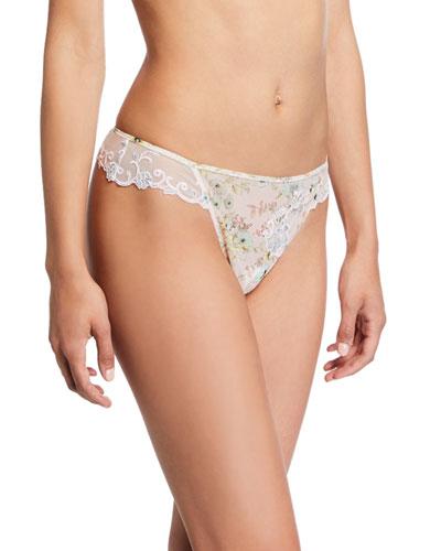 Dressing Effeuillage Lace Thong