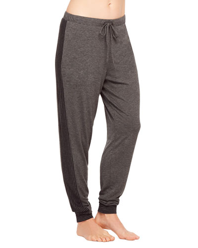 Casual Perfection Striped-Trim Jogger Pants