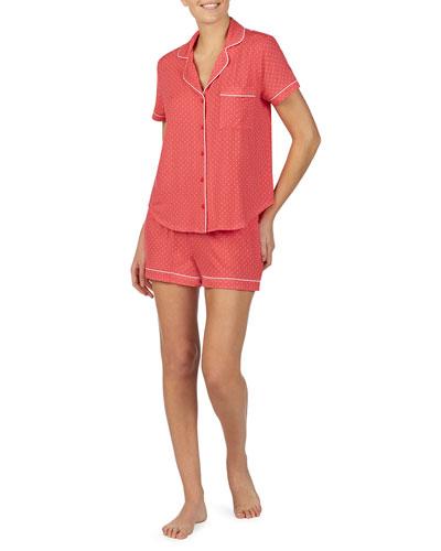 evergreen shortie pajama set