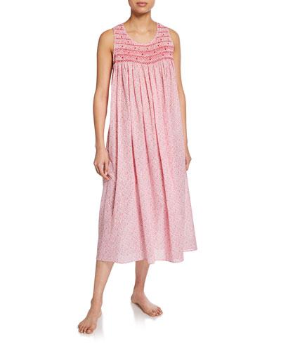 Marilu Sleeveless Cotton Nightgown