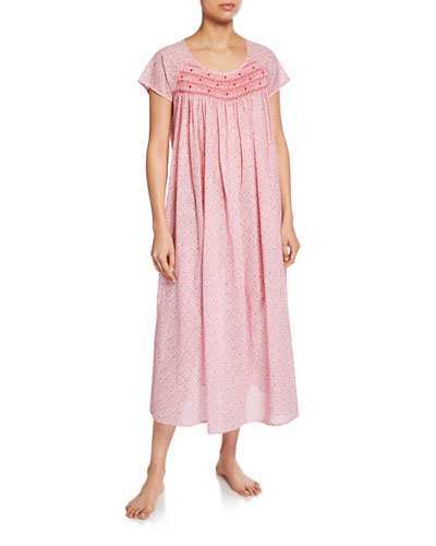 Marilu Short-Sleeve Cotton Nightgown