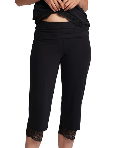 Valerie Lace-Trim Capri Pants