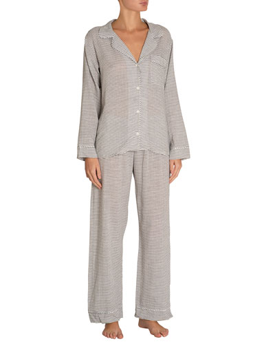 Nautico Striped Long Pajama Set
