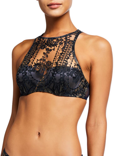 Desert Rose High-Neck Push-Up Bra