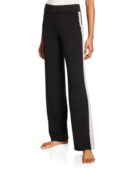 Neiman Marcus Cashmere Collection Cashmere Track Pants