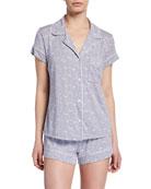 Eberjey Moon Dots Shorty Pajama Set
