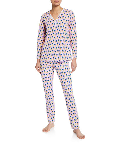 Pina Colada Two-Piece Cotton Pajama Set