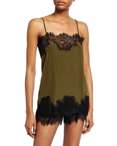 Coco Lace-Trim Straight Camisole