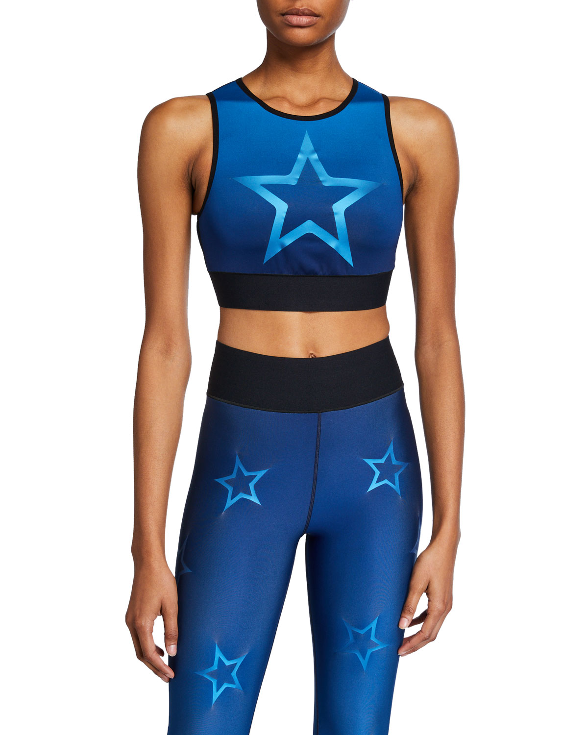 Ultracor Tops LEVEL GRADIENT DROPOUT STAR CROP TOP