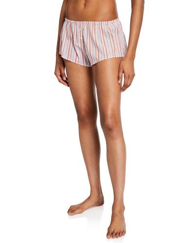 Shyla Striped Cotton Lounge Shorts