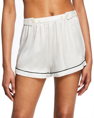 Fiona Tab-Adjustable Silk Lounge Shorts