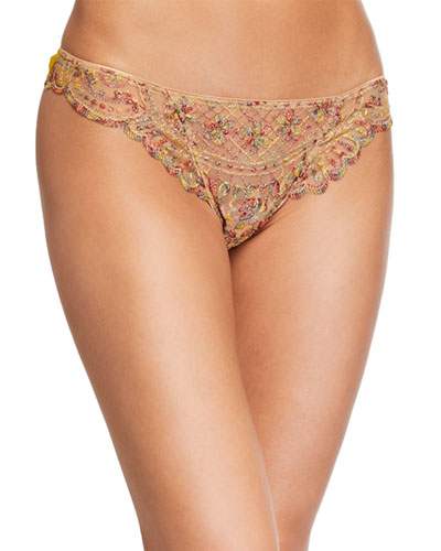 Forever Young Embroidered Thong