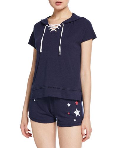 USA Love Hooded Lounge Shirt