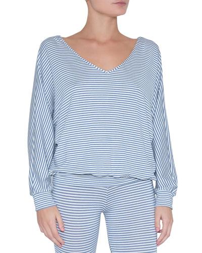 Sadie Stripes Dolman-Sleeve Top