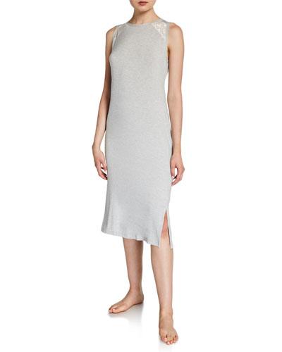 Adriana Sleeveless Midi Lounge Dress