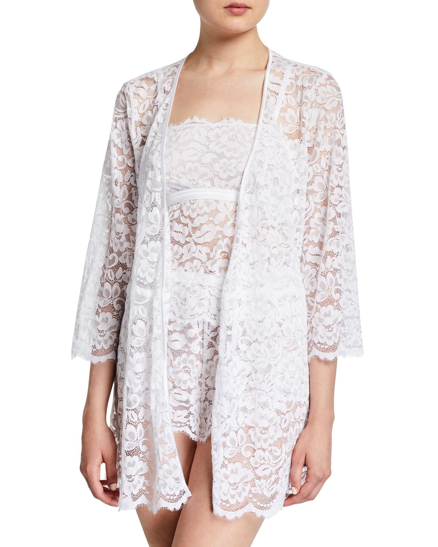 Magnolia Short Lace Robe