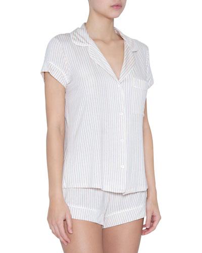 Sleep Stripes Shorty Pajama Set