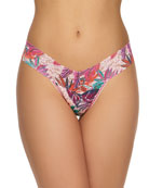 Hanky Panky Floral-Print Lace Low-Rise Thong