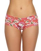 Hanky Panky Floral-Print Lace Girlkini Boy Shorts