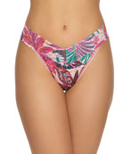 Hanky Panky Floral-Print Lace Original-Rise Thong