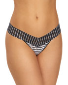 Hanky Panky Inside Out Stripe Low-Rise Lace Thong