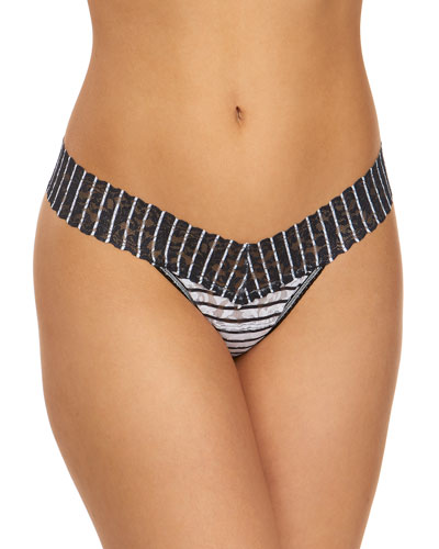Inside Out Stripe Low-Rise Lace Thong