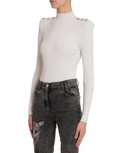 Turtleneck Knit Bodysuit