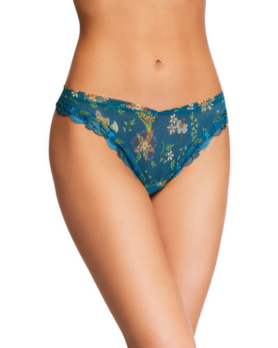 Ecrin Nature Embroidered Thong