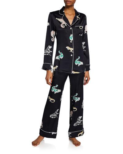 Lila Charmeleon Classic Silk Pajama Set
