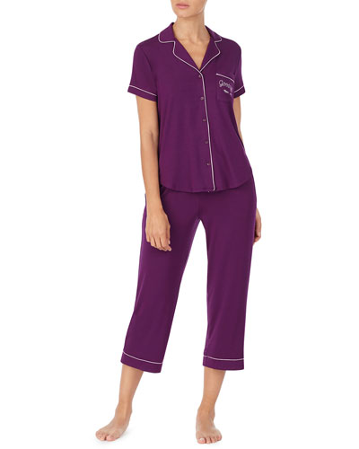 get comfortable short-sleeve crop pajama set