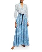 La Costa Del Algodon Hester Graphic-Pattern Long Robe