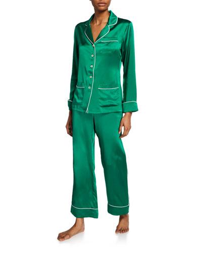 Coco Lagoon Classic Silk Pajama Set