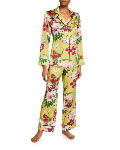 Lila Havana Floral Classic Two-Piece PJ Set