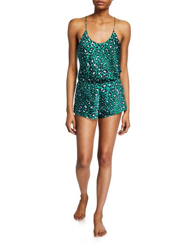 Bella Danger Leopard-Print Cami Short Pajama Set
