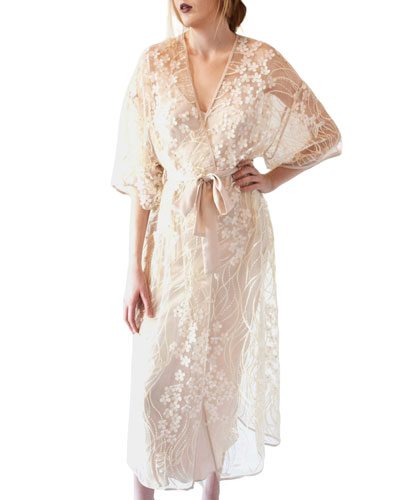 Kiss Floral Tulle Robe