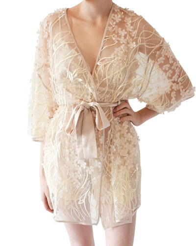 Kiss Floral Tulle Coverup Robe