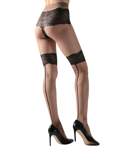 2-Pack Luxe Lace Back-Seam & Exceptionally Sheer Tights