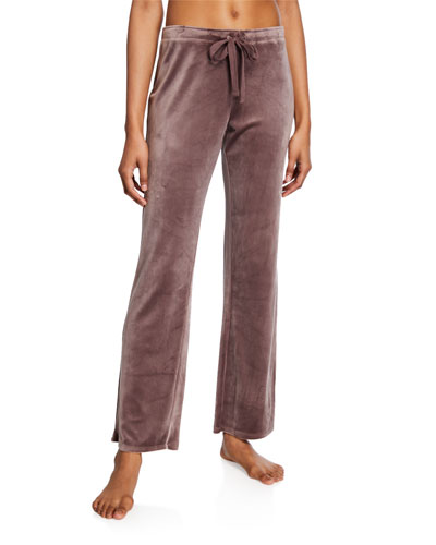 Velour Drawstring Track Pants