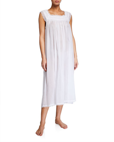 Selina Sleeveless Square-Neck Nightgown