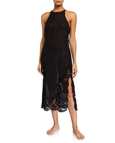 Lawinia Rose Lace-Trim Nightgown