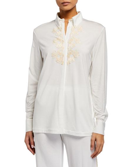 La Perla Brenda Long-Sleeve Pajama Top