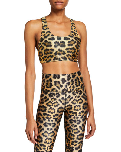 Reversible Leopard Sports Bra