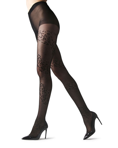 Leopard Mix Sheer Tights