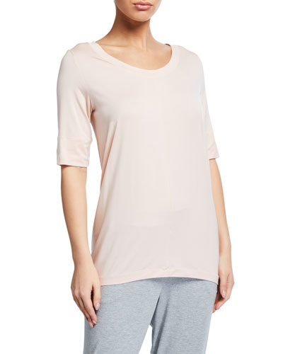 Yoga Half-Sleeve Jersey Lounge Top
