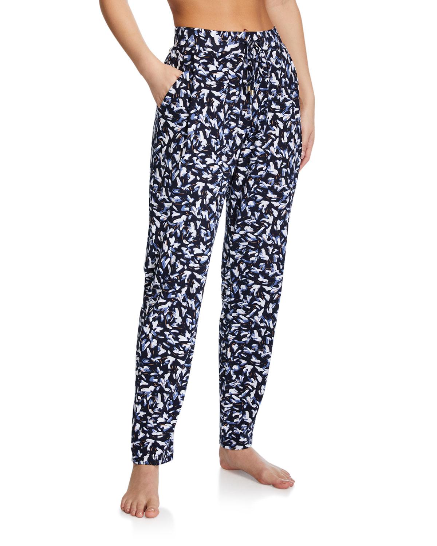 Hanro Knitwear PRINTED LOUNGE KNIT PANTS